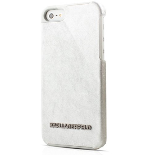 Price comparison product image Karl Lagerfeld Vinyl Collection Hard Case for iPhone 5/5S/SE - White