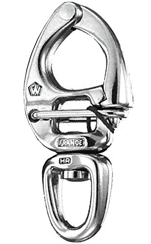 Stainless Steel Quick Release Swivel Eye Snap Shackle - Size: 3 5/32'' or Small