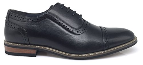 Italy Enzo New Dress Mens Up Lace Perforate Modern Wooden03N Shoes Romeo Classic Black Oxford Captoe qAXRZ