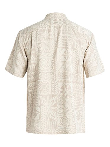 Quiksilver Waterman Men's Aganoa Bay 4 Button Down Shirt, Bone, XX-Large