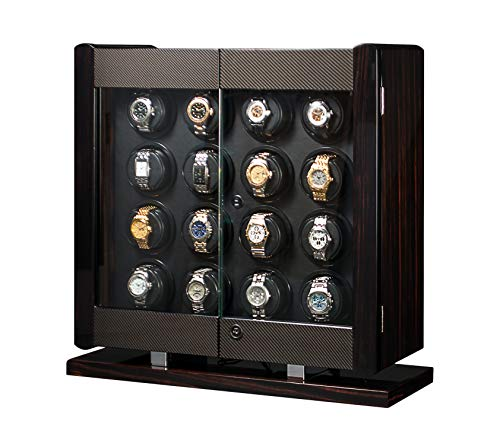 - Orbita Avanti 16 Programmable Watch Winder Cabinet W22051 Macassar Wood