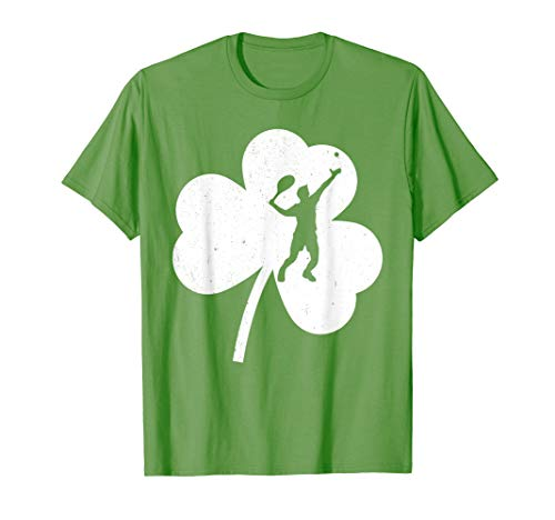 2019 Shamrock Tennis Player St Patrick's Day T Shirt Gifts ()