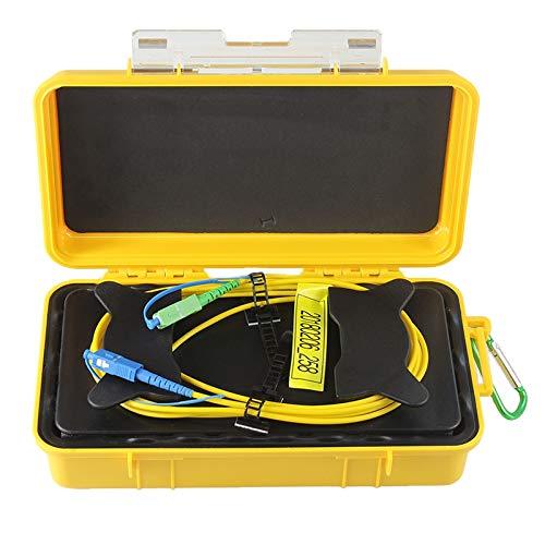 Anillos De Fibra Caja De Cable De Lanzamiento De Fibra /óptica para Otdr 1Km SM 1310 Iycorish Eliminador De Zona Muerta SC//UPC-SC//APC 1550Nm