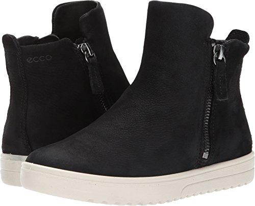 ECCO Women's Women's Fara Zip Bootie Fashion Sneaker, Black Nubuck, 40 EU/9-9.5 US