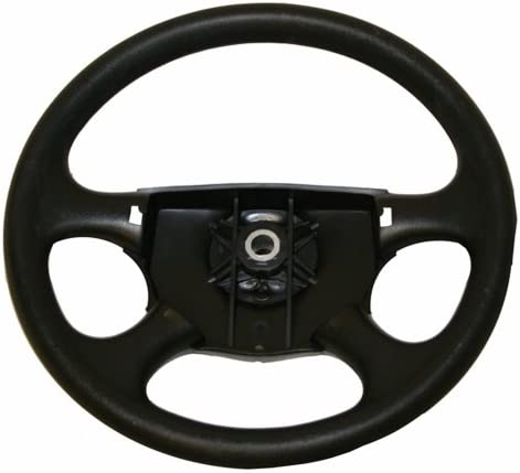 """14/"""" Polished Flame Carbon Fiber Steering Wheel w// Horn /& Adapter EzGo TXT GEM"""