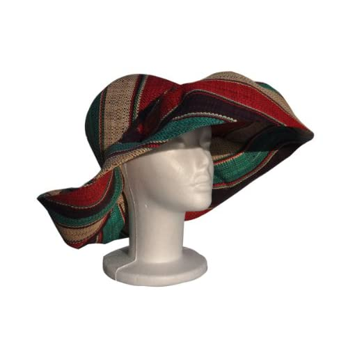 a65ec0fd0 Madagascar Raffia Sun Hats in Stripes and Solids: Natural, Black ...