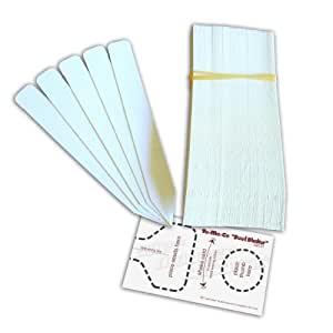 """100 Plastic Plant Labels, Seedling Markers, 5"""" Long, White and """"Seed Shaker"""" Card"""