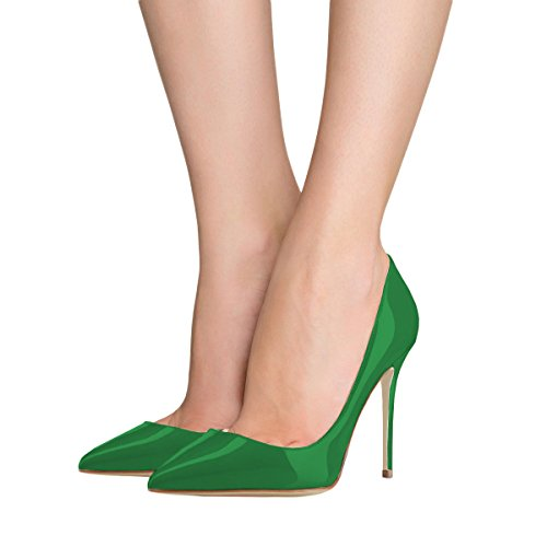5 Donne Lutalica Partito Di Stiletto Alto 5 Ci Vestito Pompe 12 Verde Brevetto Scarpe Tacco Toe Dimensioni Con Sexy Punte 41Sw4