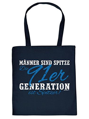 Jahrgangs-Geburtstagstasche/Beutel für IHN: Männer sind spitze Die 91er Generation ist spitzer! lustige Sprüche Tasche PziN76fOl