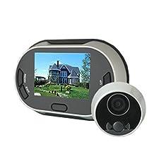 "3.5"" LCD screen Digital Video Door Viewer Doorbell High resolution Security Camera Photo Shoot Peephole"