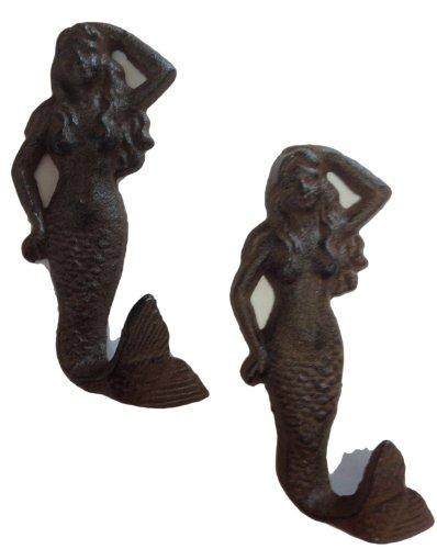 mermaid-cast-iron-nautical-wall-hook-set-of-2