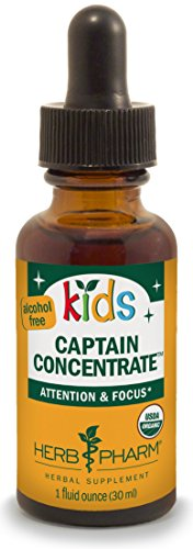 - Herb Pharm Kids Certified-Organic Alcohol-Free Captain Concentrate Herbal Formula, 1 Ounce