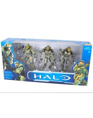 Halo McFarlane Toys 10th Anniversary Action Figure 3Pack Master Chief Evolution Halo, Halo 2 Halo 3