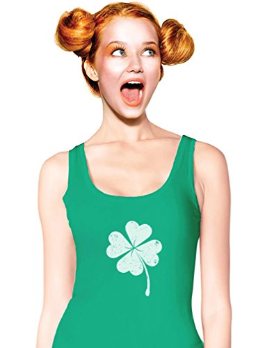 Patricks Day Womens Tank Top - TeeStars Women's - Faded Shamrock St. Patrick's Day Tank Top Small Green