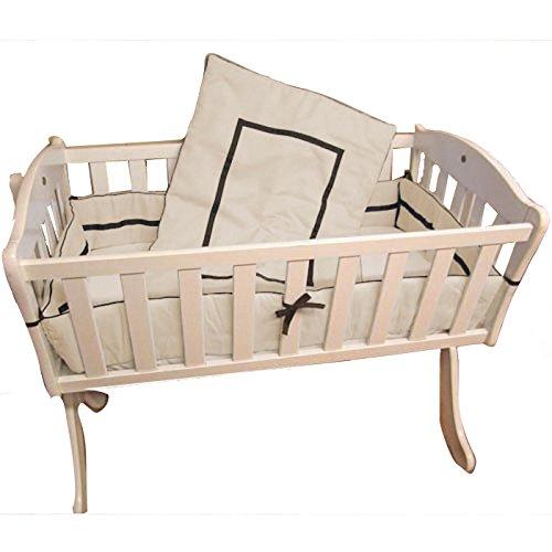 18 x 36 Grey Babykidsbargains Minky Chevron Cradle Bumper