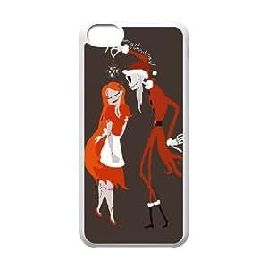 K7Q15 Pesadilla antes de Navidad funda funda iPhone X5S6HF casos 5c teléfono celular cubren PI8SCI2JQ blanco