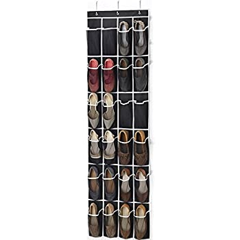 Charming Zober Over The Door Shoe Organizer   24 Breathable Pockets, Hanging Shoe  Holder For Maximizing