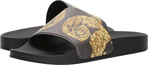Versace Collection Men's Baroque Slide Bronze Print 43 M - Versace First Collection