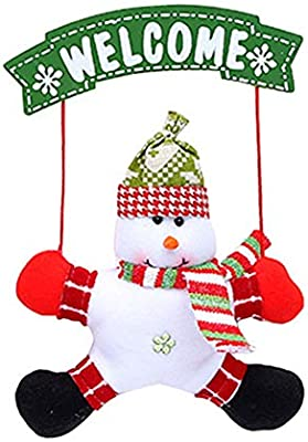 NaiCasy Navidad Puerta Colgantes Cartel de Bienvenida para ...