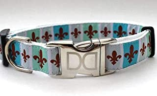 product image for French Quarter Custom Dog Collar (Optional Matching Leash Available) XXS