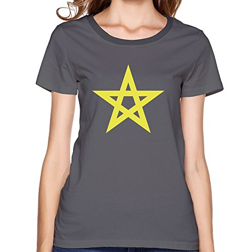 EnHui Custome Mens Green Morocco Star Ring Spun Cotton T Shirts Large DeepHeather