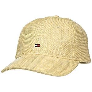 Tommy Hilfiger Women's Bb Straw Baseball Cap, Beige, One (Size:)