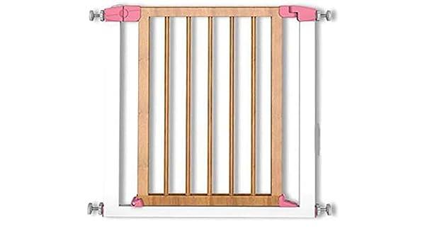 Ccgdgft Puerta de Seguridad for niños de Madera Maciza Escalera pasamanos de la Cerca del Perro casero de la Puerta Cerca de Aislamiento Adecuado Puerta Anchura 75-81cm 74cm de Alto (Color :