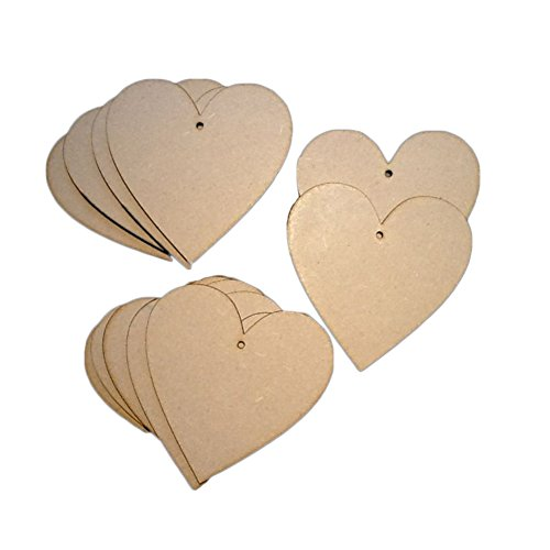 10x Wooden Heart Shapes Craft Blank, Card Making, Christmas, Wedding, Guestbook, Decoupage