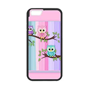 Vintage Owl On Tree iPhone 6 4.7 Inch Cell Phone Case Black