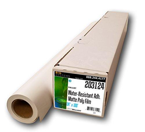 (ValuJet Aqueous Water-Resistant Matte Adhesive Poly Film (24