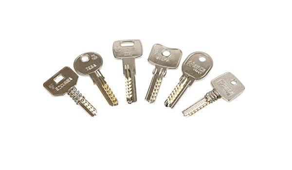 Kit de llaves bumping Bump-Keys para cerraduras de seguridad, multipuntos, planas, blindadas, Garantizadas Fabricante GanzuasBumping (Kit Nº4-42 llaves ...