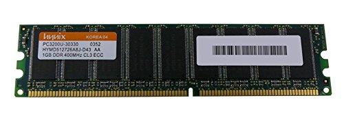 HP Genuine 1GB PC3200 400Mhz DDR CL3 ECC SDRAM Memory Module Proliant ML110 G2 DL320 G3 ML110 G1 NAS 500s - Refurbished - 326317-451 Cl3 Ecc Sdram Memory