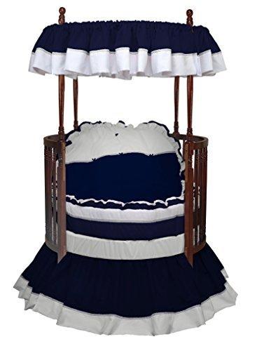 Baby Doll Bedding Regal Round Crib Bedding Set, Navy [並行輸入品]   B077ZP7Y5N