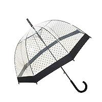 SMATI Stick Birdcage Clear Umbrella Dome Transparent - Automatic Open (Lady Woman)