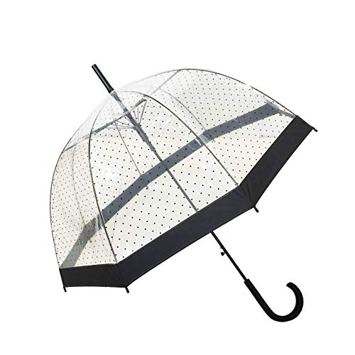 SMATI Stick Birdcage Clear Umbrella Dome Transparent - Automatic Open (Lady...