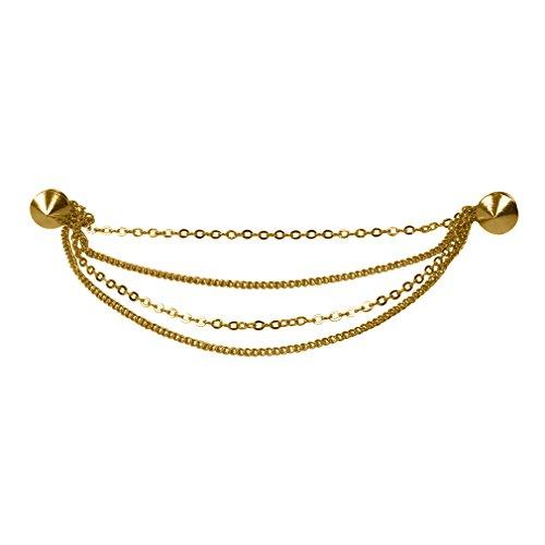 Evelots Goldtone Collar Stylish Sweater product image