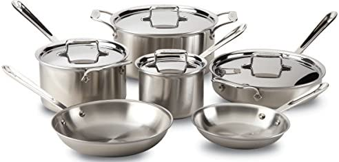 All Clad D5 10 Piece Ss Set Sale Cookware Hungry Onion