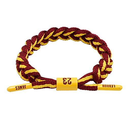 MLFuture Basketball Bracelet Wristband hand knitted adjustable bracelet NBA Player Collection LBJ Commemorative Edition by MLFuture
