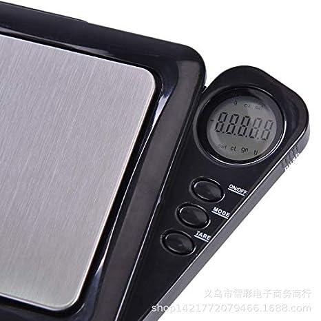 webla báscula de Cocina electrónica multifunción sin batería 0.1 gram Joyas de precisión electrónica Báscula Digital Peso Báscula de Bolsillo 500 G: ...