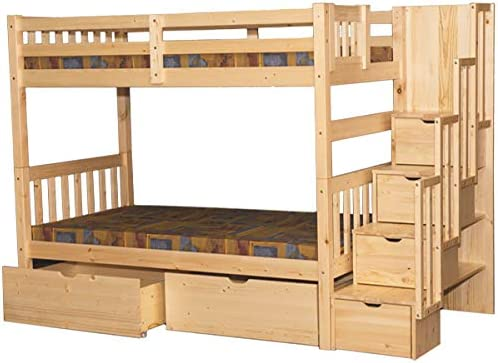 SCANICA Stairway Twin Over Twin Bunk Bed