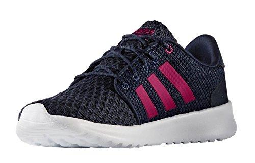 Adidas Vrouwen Casual Loopschoenen Cloudfoam Qt Racer W Lmt Blauw / Roze / Wit Blauw