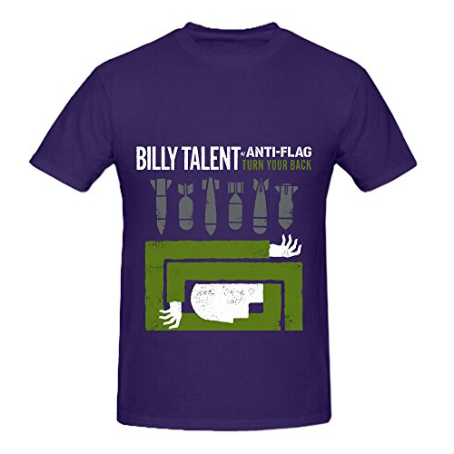 Billy Talent Turn Your Back Tour Funk Mens O Neck Slim Fit T Shirt Purple