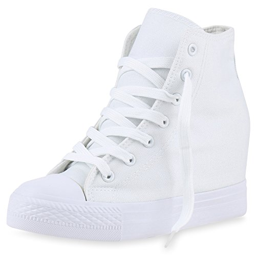 Basic VITA Sneaker SCARPE Keilabsatz Wedges Damen Weiß mit HpxYa