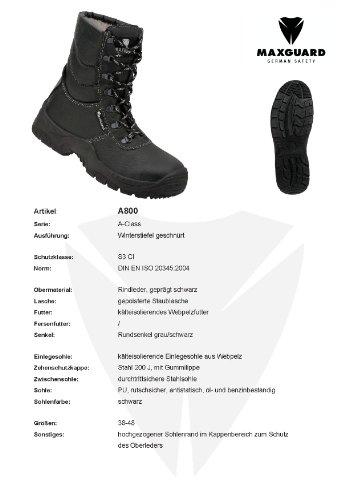 Winterstiefel schwarz CI Maxguard A800 Grösse: 48