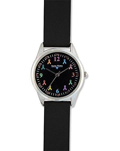 Nurse Mates Women's Awareness Ribbons Watch Black