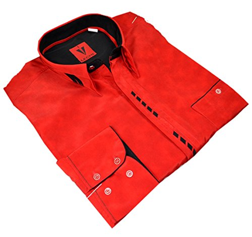 Leché Designerhemd in Rot