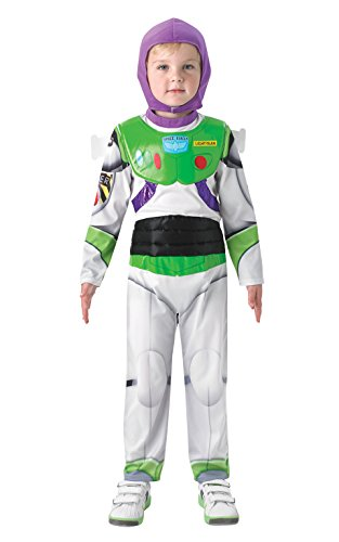 Rubies Big Boys' Disney Pixar Toy Story - Deluxe Buzz Lightyear 7-8 Years White ()
