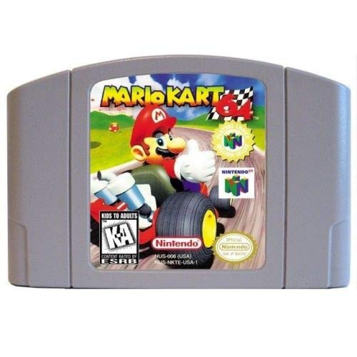 for Nintendo N64 Mario Kart 64 Video Game Cartridge Card US Version