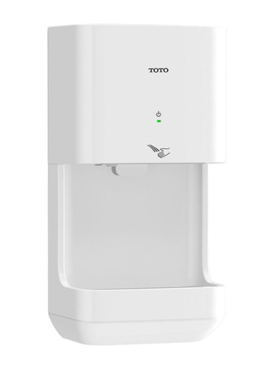 Toto HDR101#WH Clean Dry Hand Dryer, White