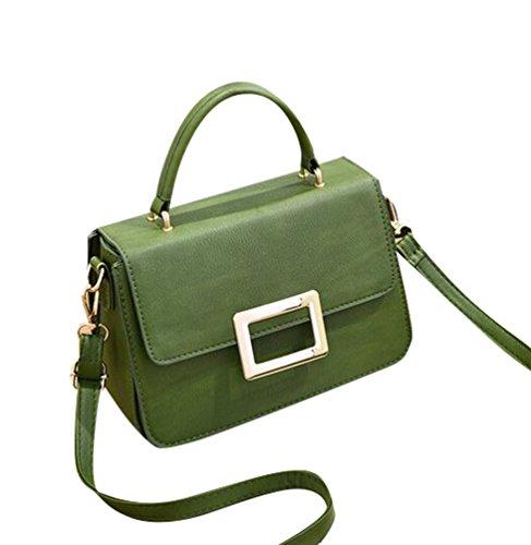 Baymate Elegante Bolso de la Señora hombro bolsa de la PU bolso de cuero Verde